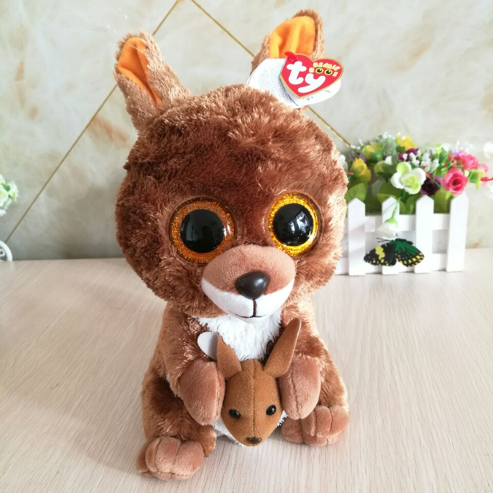 TY BEANIE BOOS 1PC 25CM Plush Toys spencer dog slick fox tiwggy owl flippy  fish georger. sku  32797001386 4edae070685d