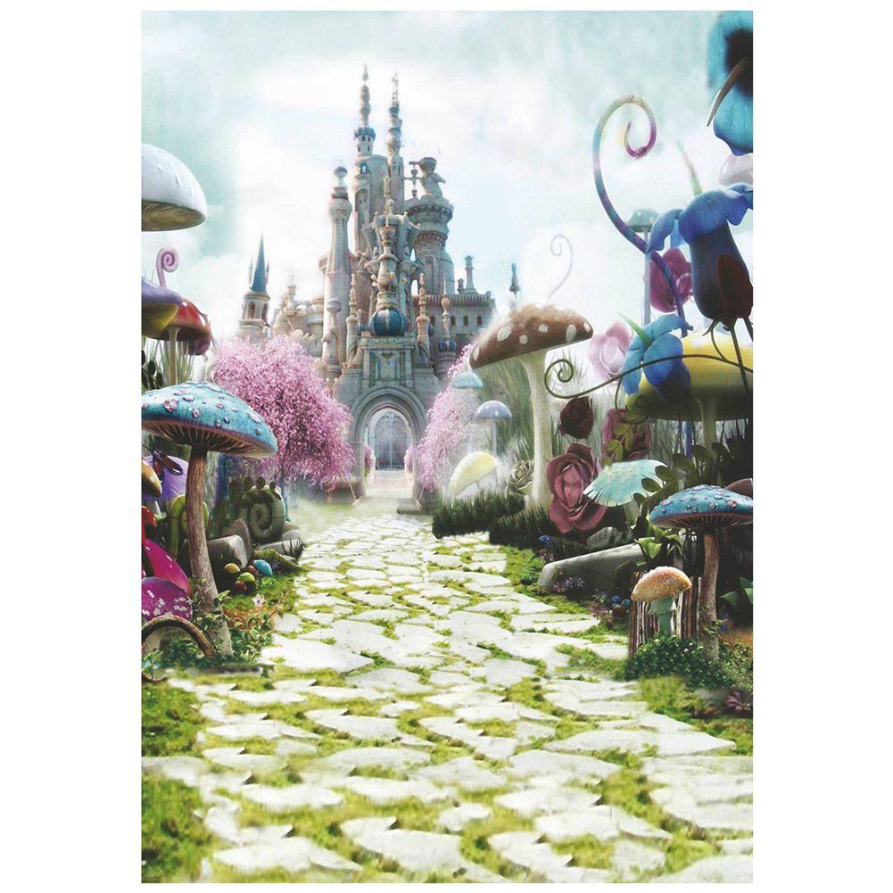 3 x 5FT Fairy Tale Mushroom Castle Photography Backdrop Studio Props Background photo background 5x7ft fairy tale mushroom house photography backdrop studio props for children