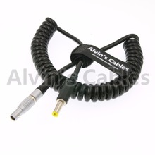 2 Pin lemo male to DC Coiled twist Power Cable For Teradek Bond