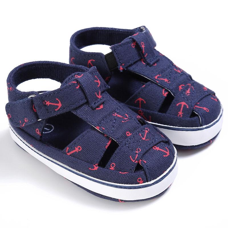 dd85543a2328f US $2.99 9% OFF Toddler kids Anchor Sandals Baby Boy Girl Summer Sandals  Infant Crib Shoes Prewalker 0 18 Months-in Sandals & Clogs from Mother &  Kids ...