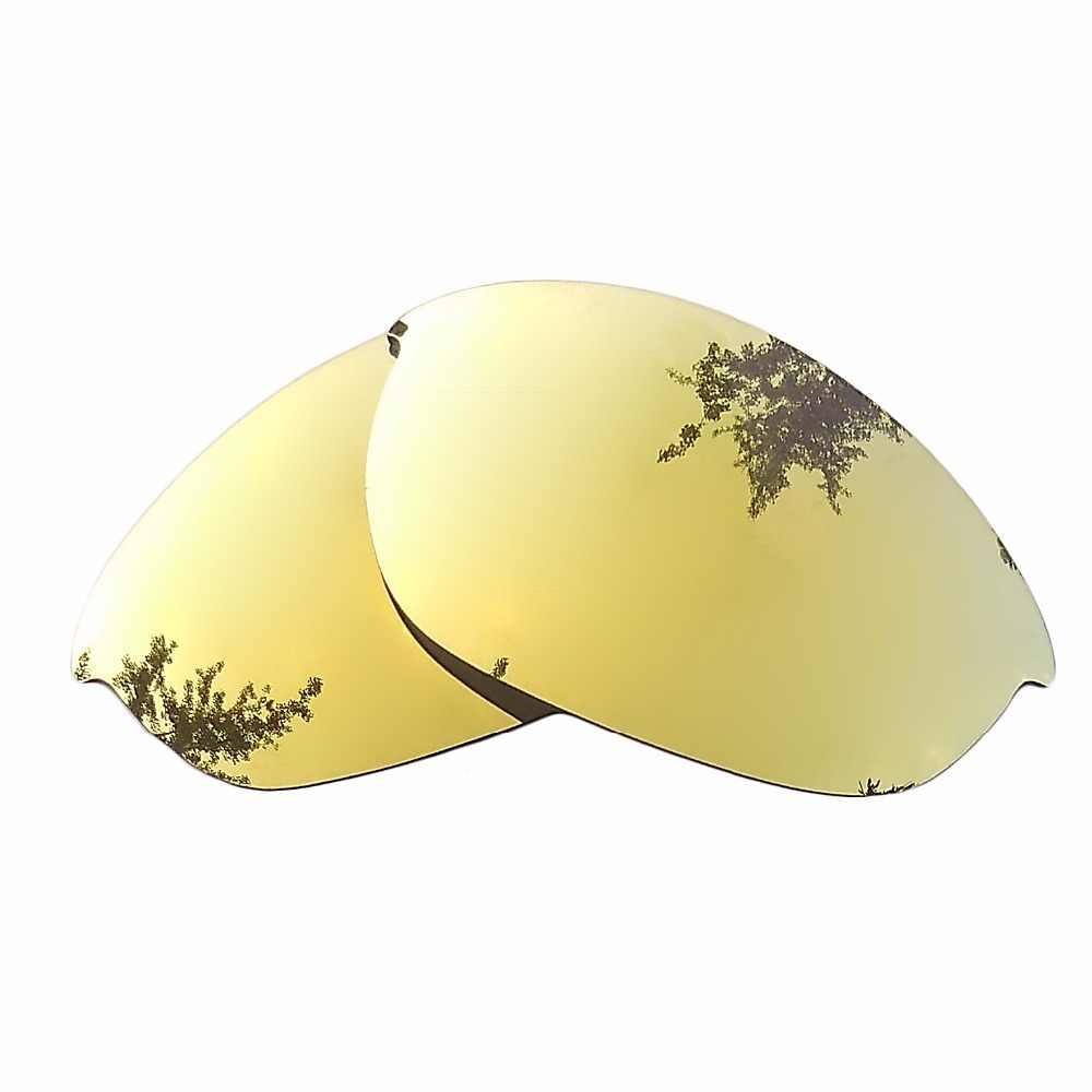 24 K złota lustrzane spolaryzowane wymienne soczewki dla Half Jacket oprawka do okularów słonecznych 100% ochrona przed promieniowaniem UVA i UVB