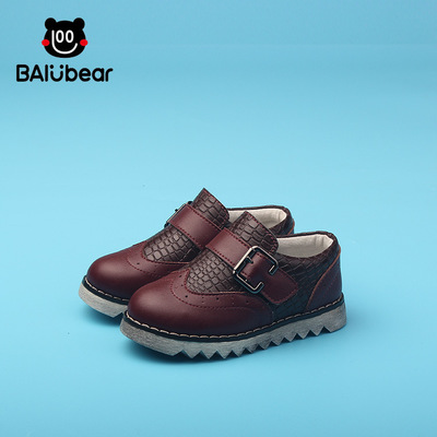 Kid Shoes Children font b Boots b font leather boys shoes Plush font b Boots b