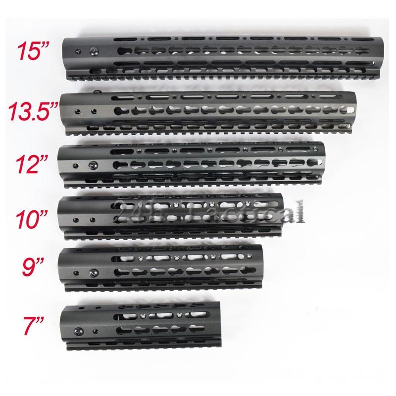 7//9//10//12//13.5//15/'/' inch Slim M-lok Handguard Rail Picatinny Mount System/_Black