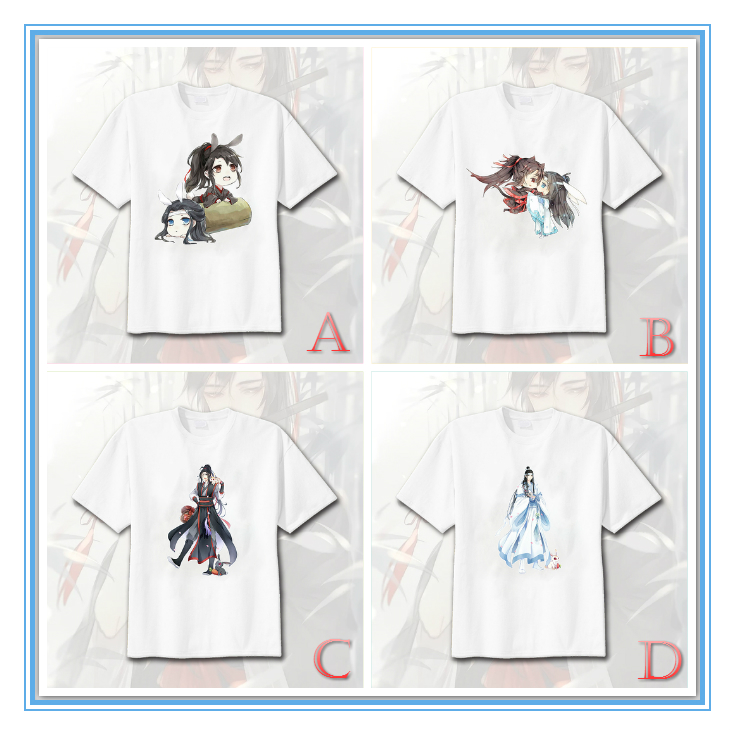 Giancomics Mo dao zu shi T-Shirt Summer Short Sleeve Shirt Simple Generous Cotton Cotta Cosplay Costume Unisex Cute Anime TShirt