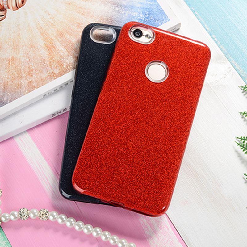 GerTong Luxury Glitter 3 in 1 Phone Case For Xiaomi Mi 5X A1 Slilcone Sparkle Cover For Redmi 5A 4A 5 Note 4 4X 64GB Phone Shell