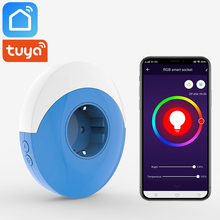 Tuya Smart Life App Wifi Socket EU UK US AU JP IND Plug With Warm White RGB Night Light Works Alexa Google Home IFTTT