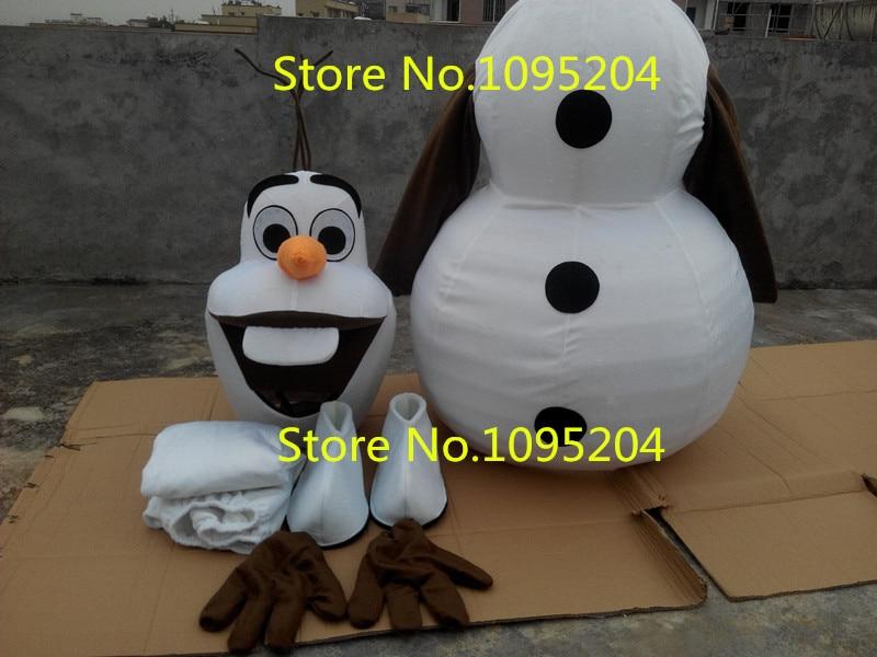 Adulto Nuovo Costume Della Mascotte Olaf Pupazzo di Neve Vestiti Di Natale Del Partito Del Vestito