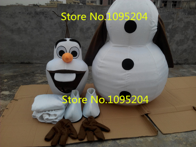 Volwassen New Olaf Mascot Costume Snowman Kleding Christmas Party - Carnavalskostuums