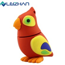 LEIZHAN usb flash drive Parrot style jump drive funny animal pendrive 64gb 32gb 16gb 8gb 4gb student memory stick Duck usb key цена и фото