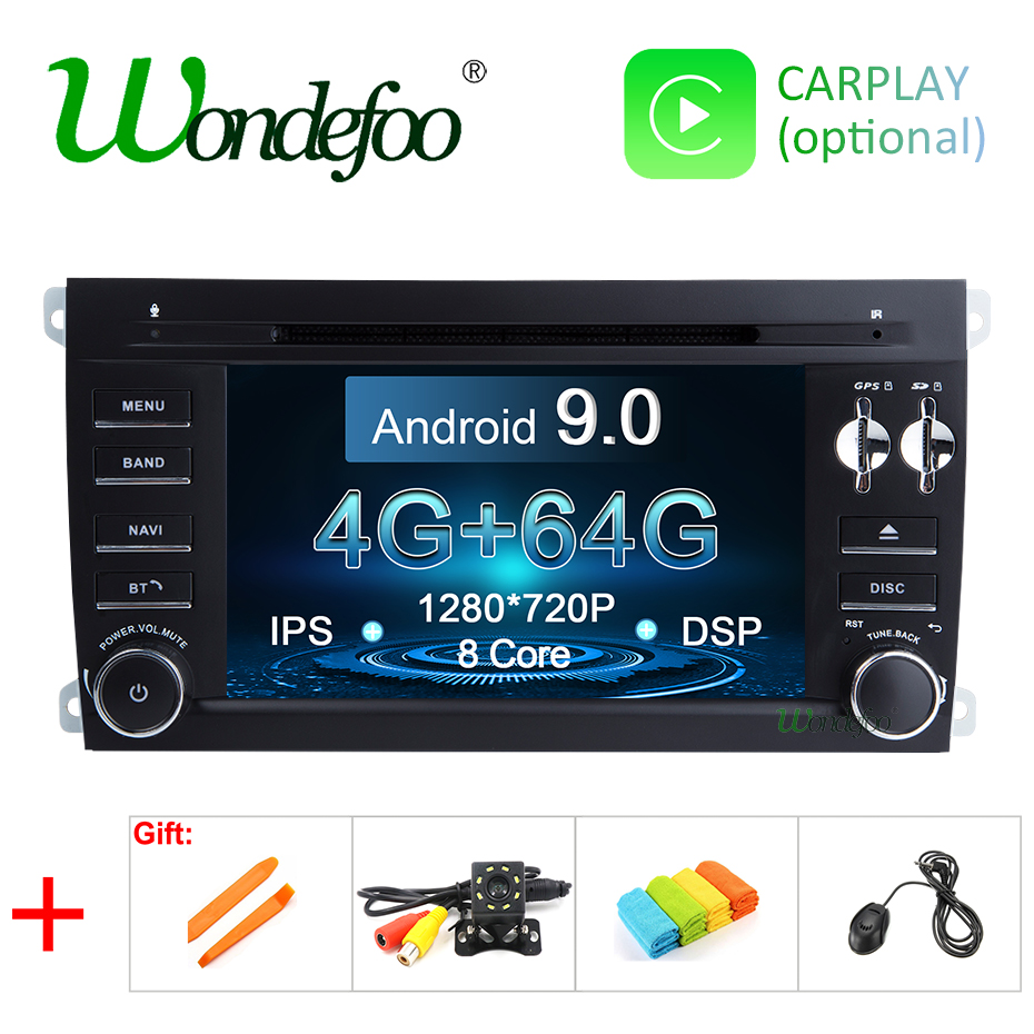 Android 9 0 DSP 64G 2 Din Car GPS Radio for Porsche Cayenne 2003 2010 Cayenne