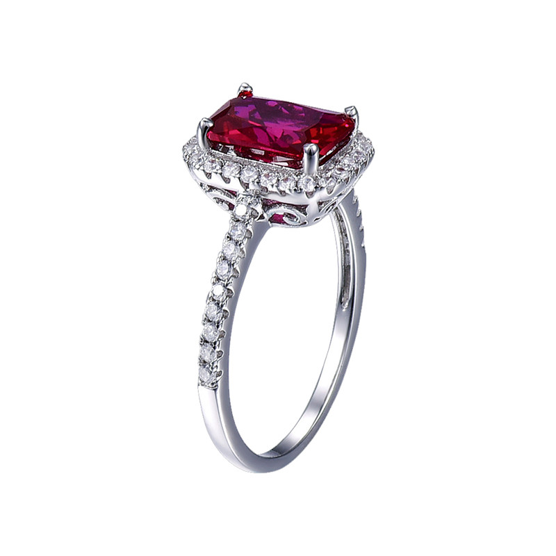 Hot Sale 3.6ct Pigeon Blood Red Ruby Engagement Bröllop Ring Pure - Fina smycken - Foto 3