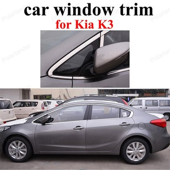 Car Styling window frame For K-ia K3 Stainless Steel Window Trim Decoration Accessories