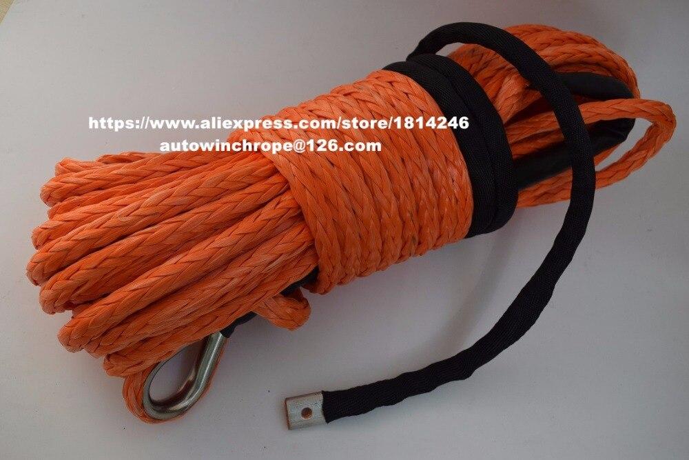 Boa qualidade 12mm * 30 m orange corda sintética, kevlar corda do guincho, Guincho Sintético Corda, Corda de Reboque para AUTOS