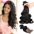 7a Malaysian Body Wave With Closure 3 Bundles With Closure Unprocessed Malaysian Virgin Hair With Closure Cheap Human Hair Weave