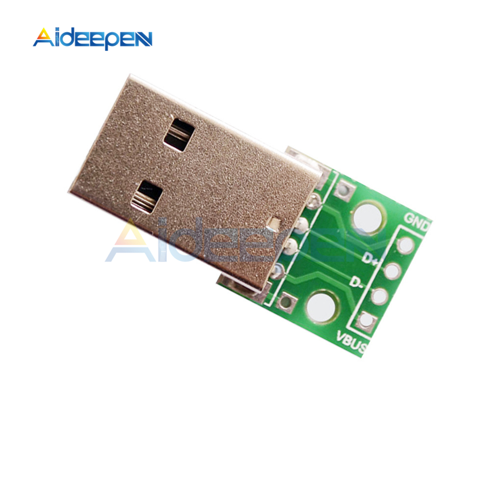 6pcs USB to DIP Adapter Converter For 2.54mm PCB Board DIY Power Supply