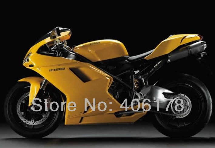 Hot Sales,Best price 1098 848 1198 Sportfairing kit For Ducati 1098 2007-2011 Yellow Motorcycle Fairings (Injection molding) hot sales best price for yamaha tmax 530 2013 2014 t max 530 13 14 tmax530 movistar abs motorcycle fairing injection molding