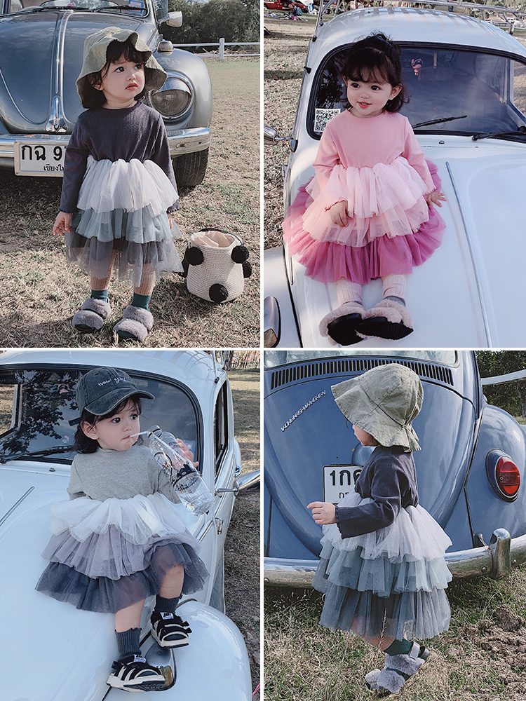 Girls Dresses Wedding Party for And Spring Color-Screen Gradual