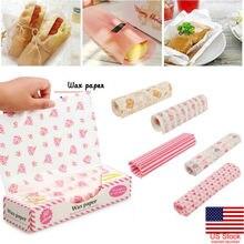 50 x Гамбургер хлеб пищевая вощеная бумага одноразовый упаковщик сэндвичей выпечки восковой бумаги