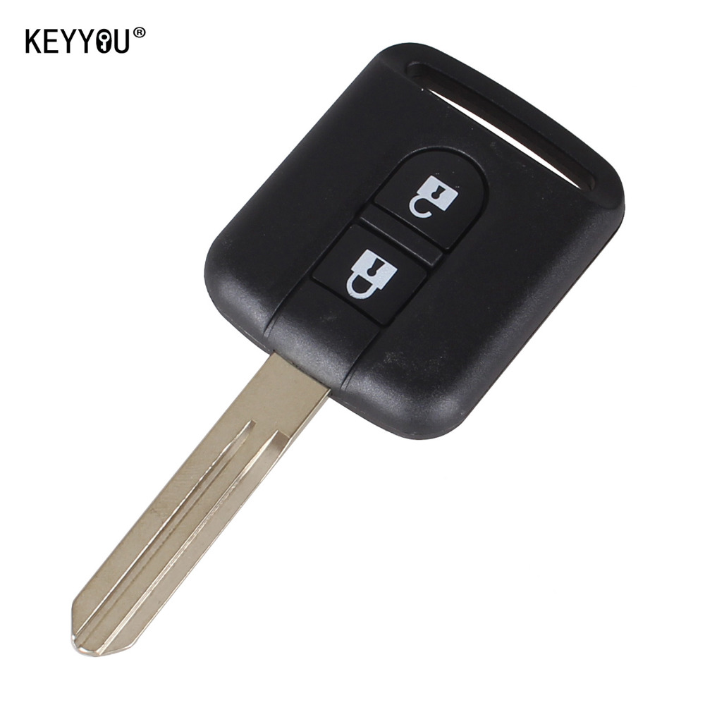 KEYYOU New Replacement Remote Car Key Shell Case Fob Keyless Entry 2 Button For Qashqai Nissan Micra Navara Almera Note cawanerl car sealing strip kit weatherstrip rubber seal edging trim anti noise for nissan almera march micra note pixo platina