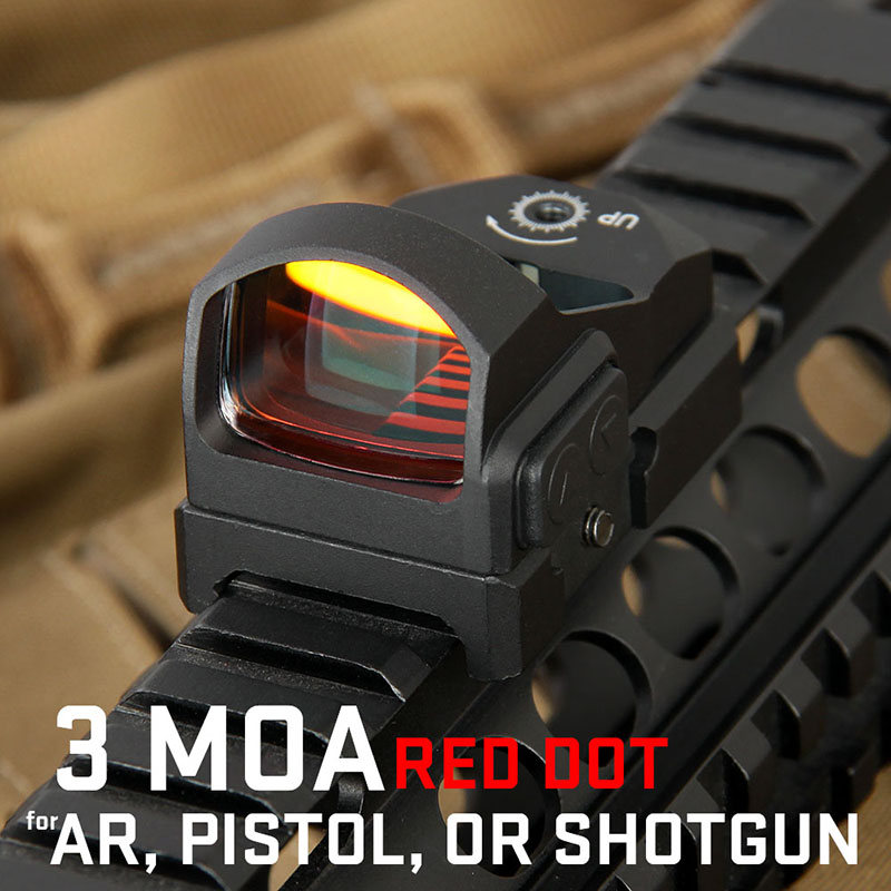 Canis Latrans Tactique Red Dot Sight 3MOA Red Dot Portée Mini Compact Reflex Airsoft Chasse Vue Picatinny Rail PP2-0117
