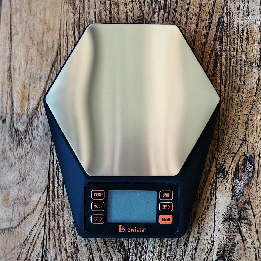 Rechargeable electronic scale coffee scale high percision Water-powder ratio Hexagonal digital scale for drip coffee