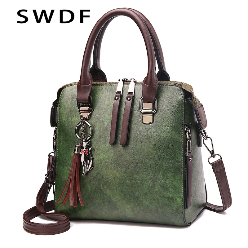 SWDF Leather Ladies HandBags Women Messe