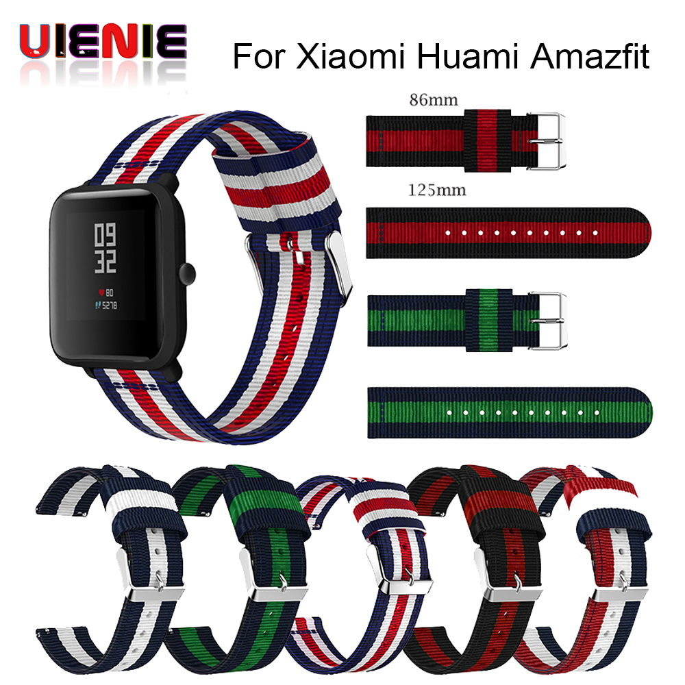 Nylon Band For Amazfit Bip Youth Watchband Replace for Xiaomi Huami Amazfit Band Bracelet For Huami Amazfit Bip Bit Wrist Strap xiaomi amazfit bip white
