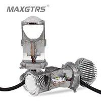 2x H4 9003 HB2 Hi/Lo LHD Car LED Headlight Bulbs Light Lamp Beam 70W 1.5 Micro Auto Mini Projector Lens 5500K DC12V/24V