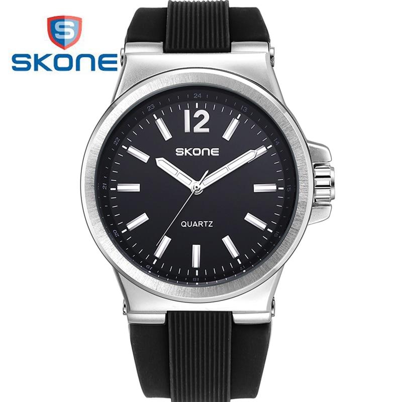 SKONE Luminous Simple Watch Men Top Brand Luxury Mens Quartz Watch Famous Silicone Watches Clock Relogio Masculino Hodinky XFCS clarke a watch me