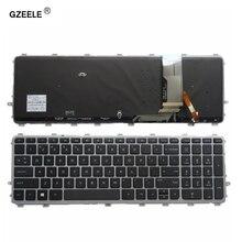 GZEELE ใหม่สำหรับ HP ENVY 15 J 17 J 720244 001 711505 001 736685 001 6037B0093301 V140626AS2 แล็ปท็อป US แป้นพิมพ์ backlit