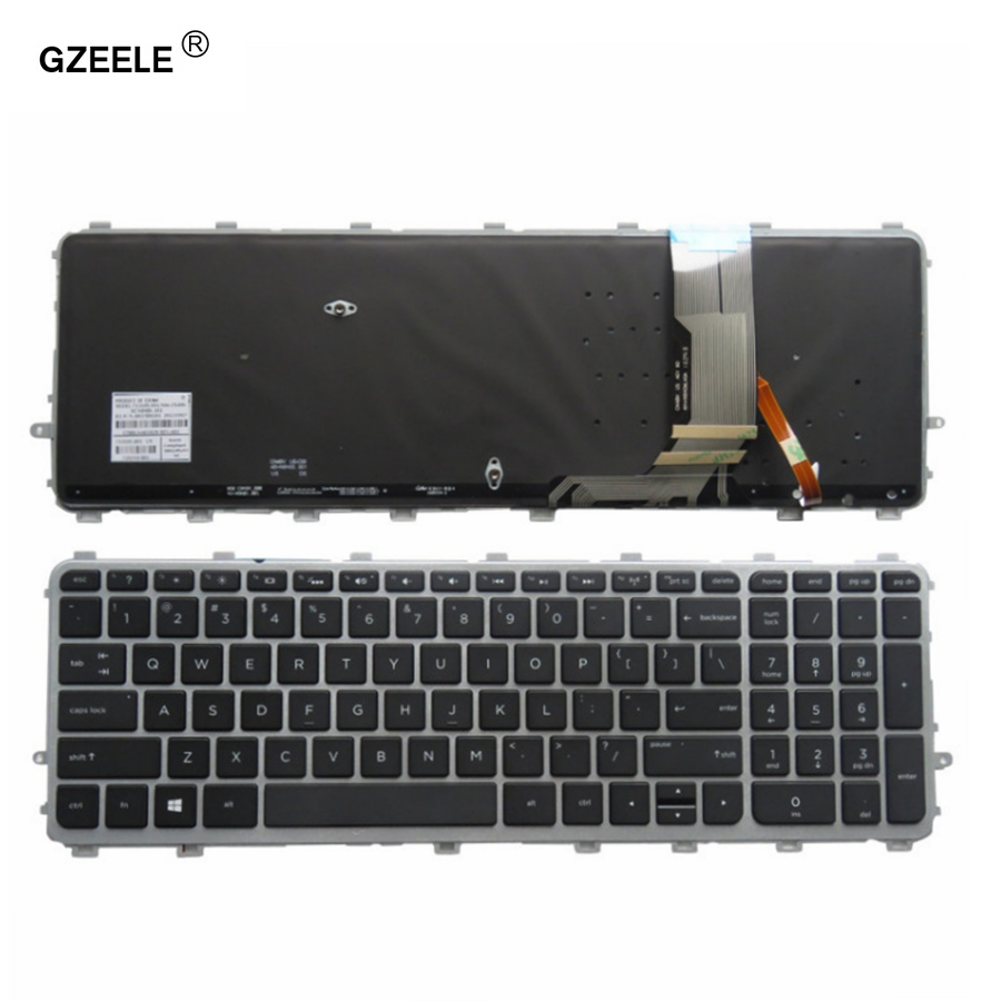 GZEELE New For HP ENVY 15-J 17-J 720244-001 711505-001 736685-001 6037B0093301 V140626AS2 Laptop US Keyboard Backlit