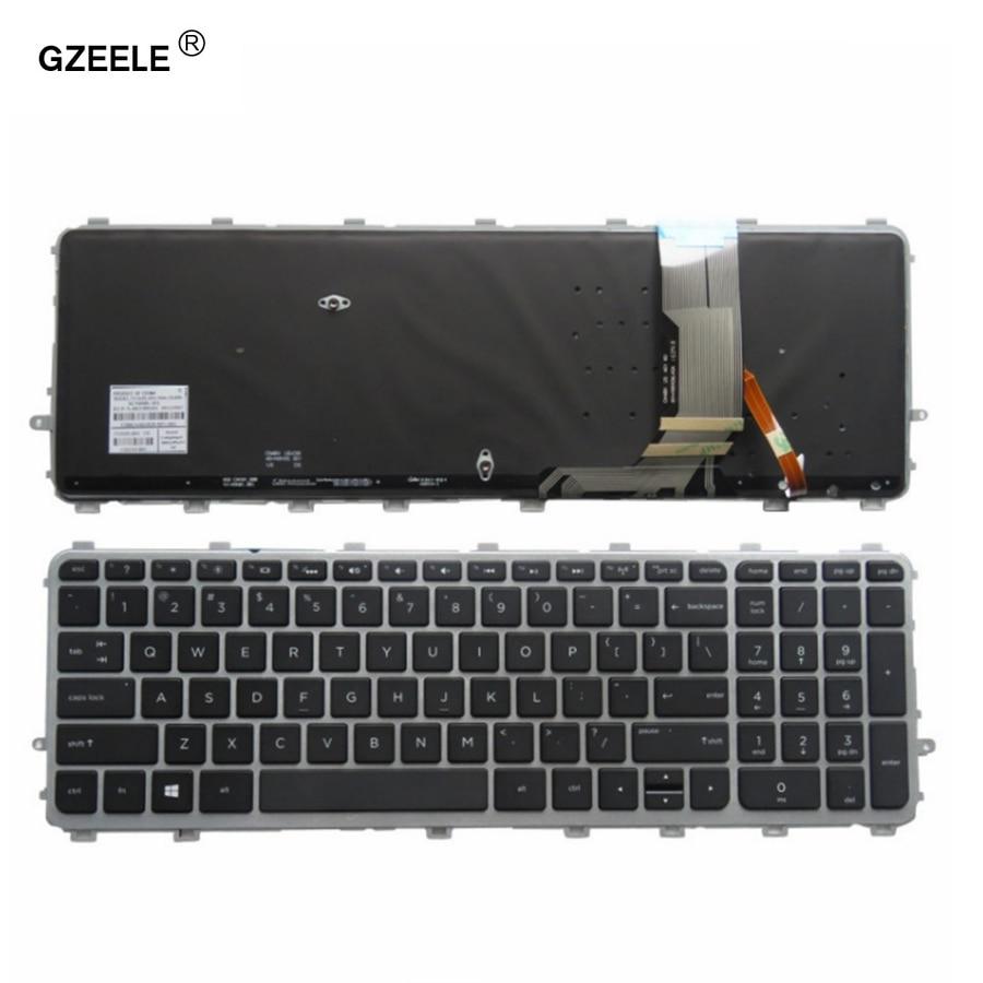 GZEELE Nouveau pour HP ENVY 15-J 17-J 720244-001 711505-001 736685-001 6037B0093301 V140626AS2 ordinateur portable NOUS clavier rétro-éclairé