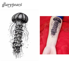 1pc Temporary Tattoo Body Art Sticker KM-025 Creative Ocean Jellyfish Picture Design Water Transfer Sexy Tattoo Sticker Products