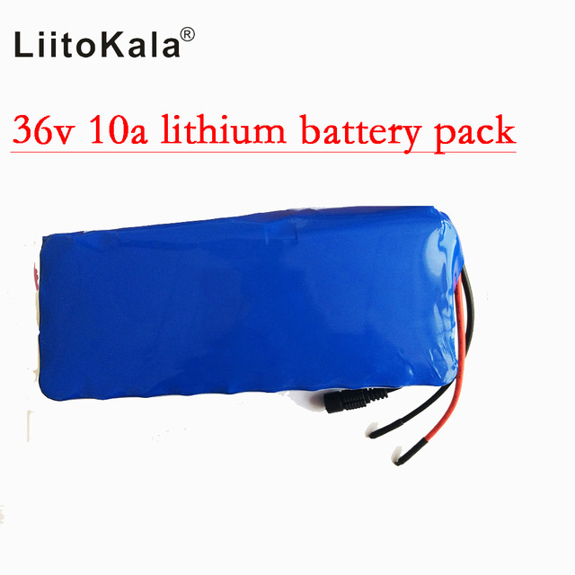 HK Liitokala 36 V 10ah Lithium Battery High Capacity Mass Pack Include 42V 2A Chager