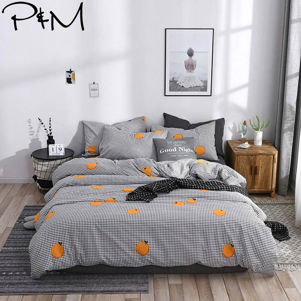 2019 PAPA&MIMA Yellow Lemon Plaids Scandinavian Duvet Cover Set Queen King Customize Size Cotton Bedlinens Bedding Sets2019 PAPA&MIMA Yellow Lemon Plaids Scandinavian Duvet Cover Set Queen King Customize Size Cotton Bedlinens Bedding Sets