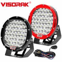 "VISORAK 9"" 225W Super Bright Offroad LED Work Light Bar 4x4 SUV ATV LED Work Light For Off-road Truck Car Jeep 4WD 4x4 ATV Boat"