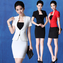 Summer dress new professional suit hotel front desk beautician uniform