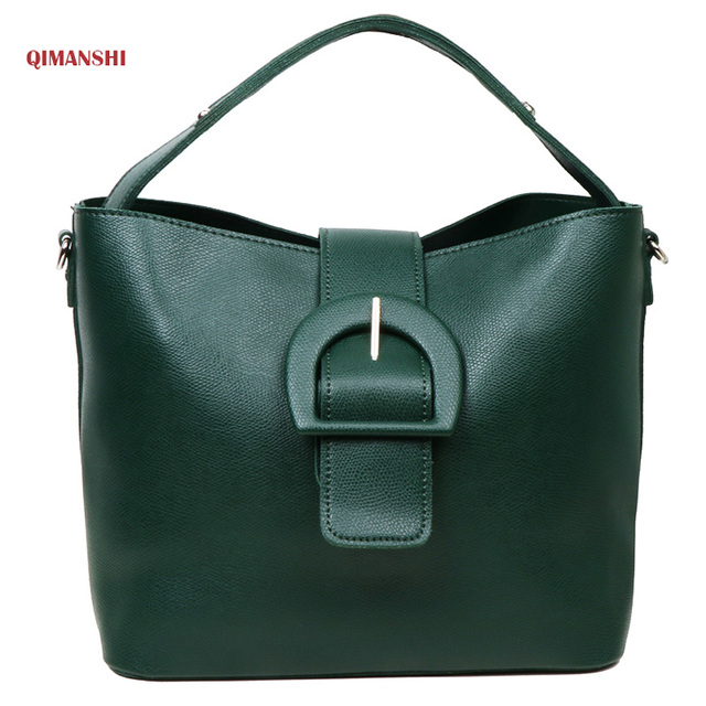 ad2d74d861 QIMANSHI Women Handbag Female PU Leather Bag Handbags Ladies Portable  Shoulder Bag Office Ladies Hobos Bag