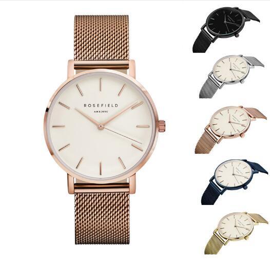 Hot Sale New Fashion Simple  Women's Clock  Golden Stainless Steel Analog Quartz Wrist Watch Relogio Feminino Ladies' Gifts
