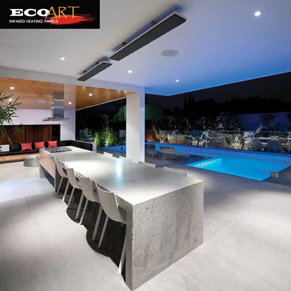 Eco Art En Plein Air Infrarouge Chauffe-, 2400 W Chauffe-Patio Extérieur mur monté chauffe avec thermostat Intelligent