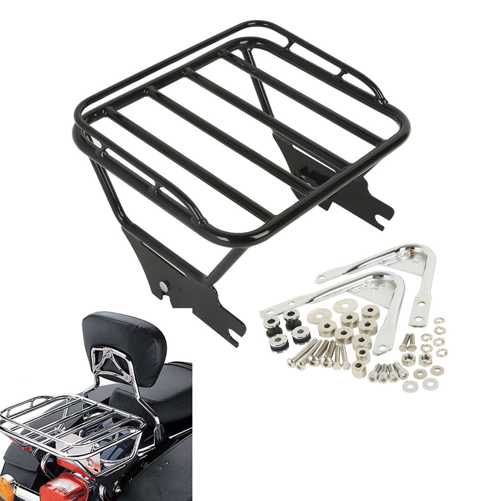Motorcycle Luggage Rack with Docking Hardware Case for Harley Touring FLHR FLHT FLHX FLTR 1997-2008 2 up tour pak mounting luggage rack for harley touring flhr flht flhx fltr 14 16