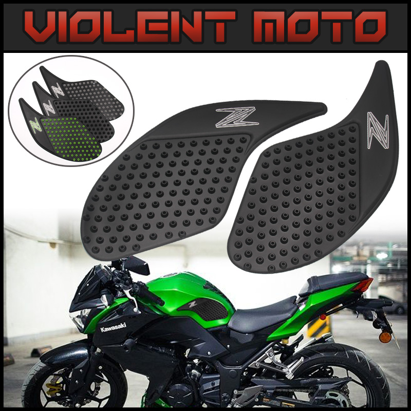 Motorbike Accessories Motorcycle Tank Pad Protector Sticker Gas Knee Grip Protector Decal Side 3m Stickers Moto For Kawasaki Z300 2013 2014 2015