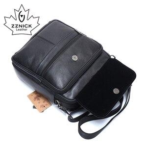 Image 5 - ZZNICK 2018 Genuine Cowhide Leather Shoulder Bag Small Messenger Bags Men Travel Crossbody Bag Handbags New Fashion Men Bag