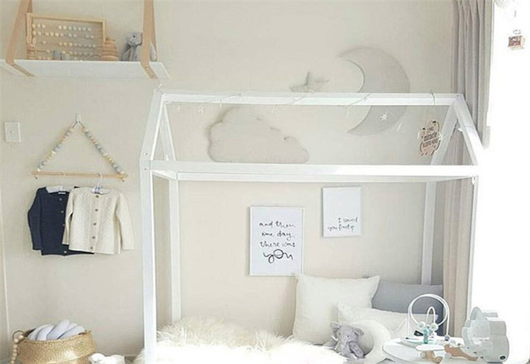 US $9.49 5% di SCONTO|Vendita calda camera da letto della parete Ripiani  Originale FAI DA TE Perline di Legno di Stoccaggio Mensola A Muro Ripiani  ...