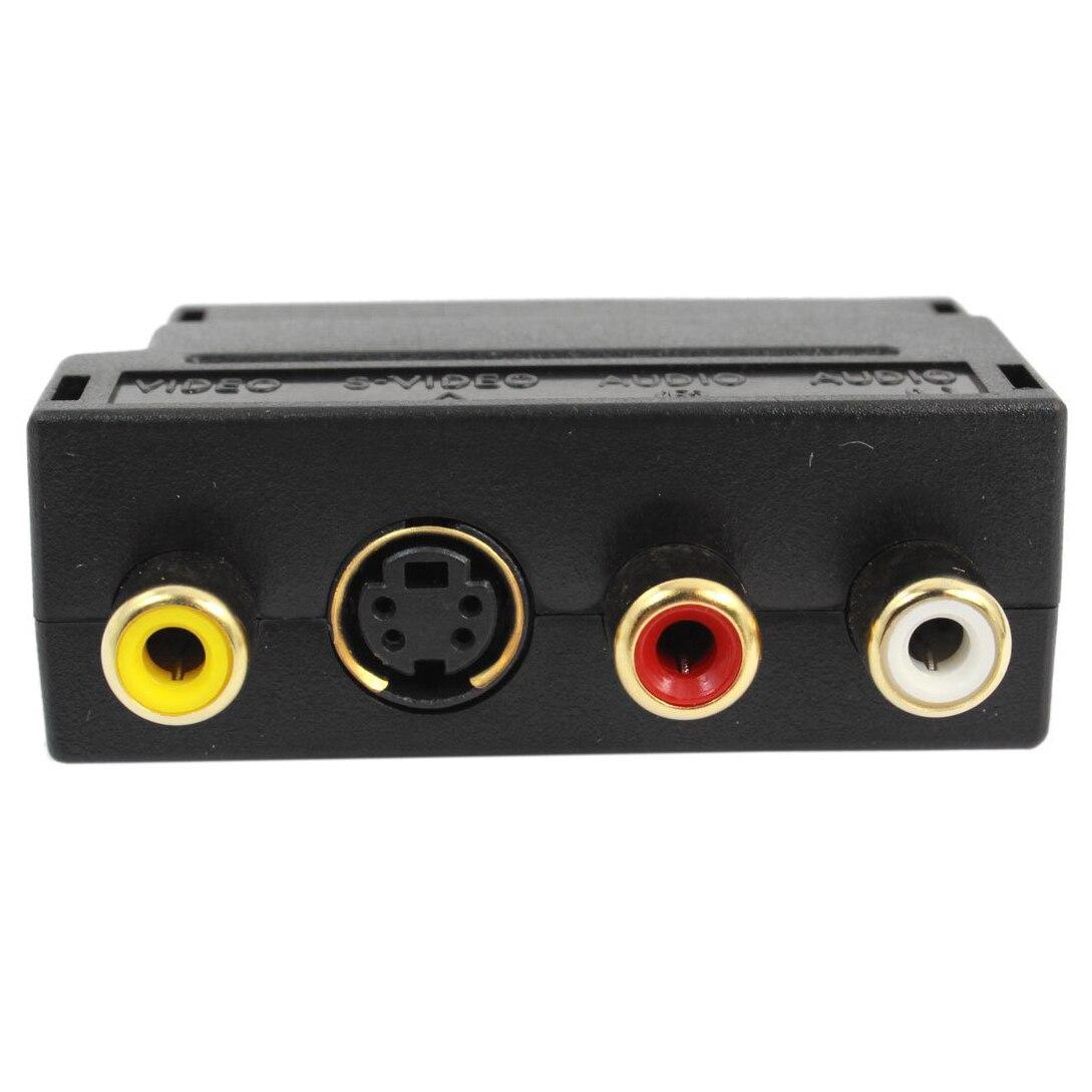 2 Packs 20 Pin Male To Female Pin 3 RCA AV + S-Video Adapter - Black