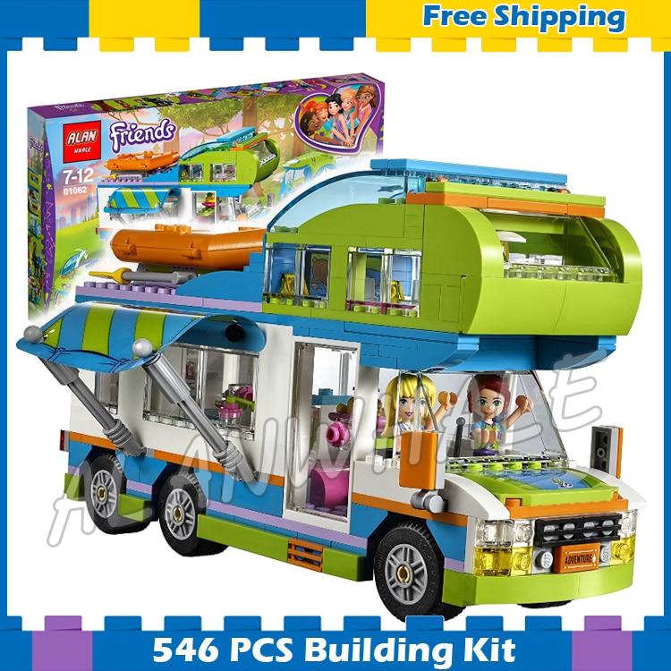 546 шт. друзья Мии camper van 01062 модель строительные блоки Для детей Кирпичи подарки наборы дети девочек Совместимость с Lego