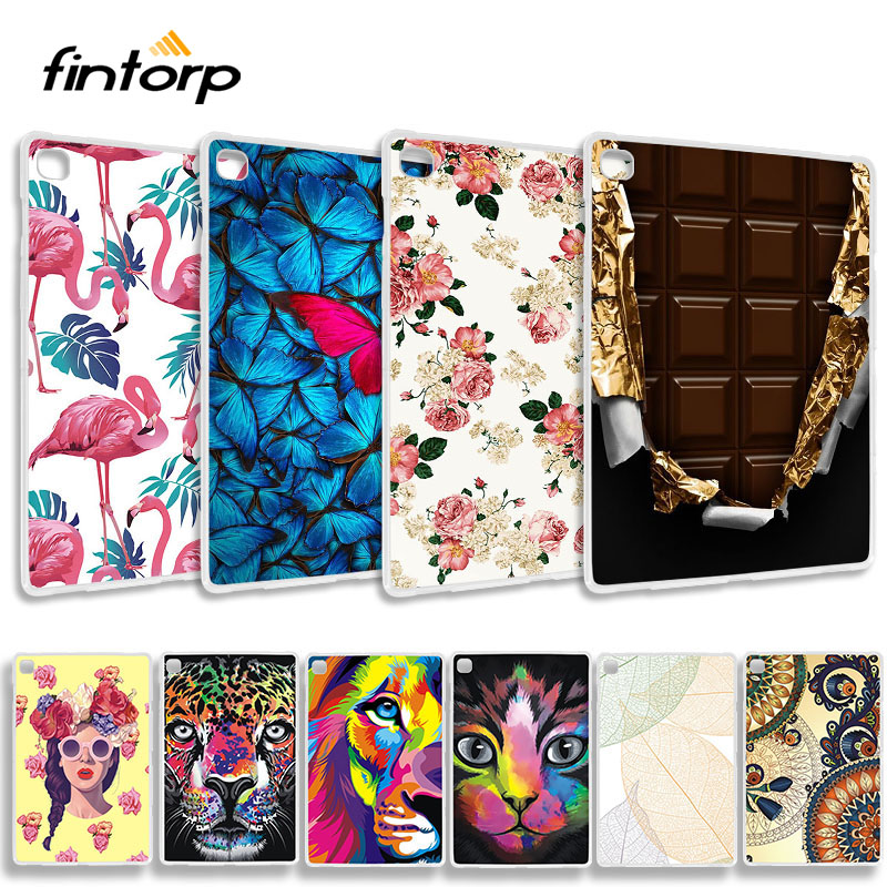 Soft TPU Painted <font><b>Case</b></font> For Samsung Galaxy Tab S5E 2019 <font><b>T720</b></font> T725 <font><b>Cases</b></font> Tab S5E 10.5