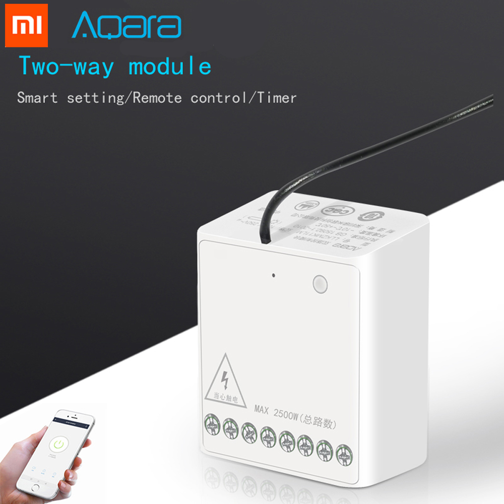 Aqara Relay Module Two-way Module Smart Setting APP Control Double Channels AC Motor Wireless Controller For Mi Home