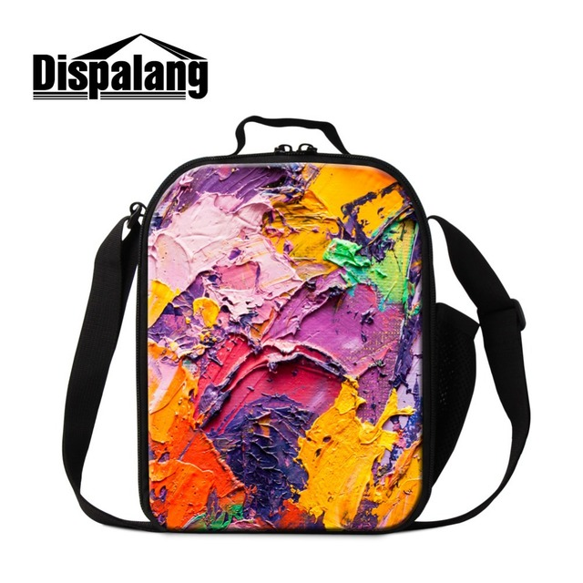 Art Lunch Bags for Girls Personalized Insluatated Lunch Cooler Bag for Children Women Colorful Lunch Container for Work Meal Bag