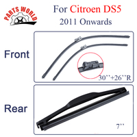 Combo Silicone Rubber Front And Rear Wiper Blades For Citroen DS5 2011 Onwards Windscreen Wipers Car